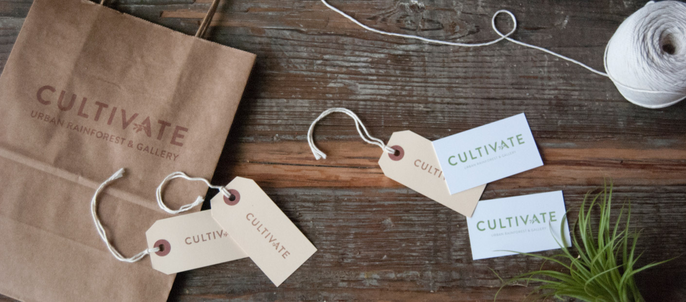 Photo of Cultivate product tags and other collateral