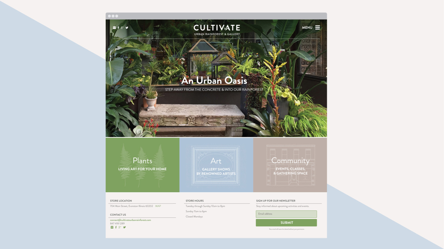 Photo of a screenshot from the Cultivate website
