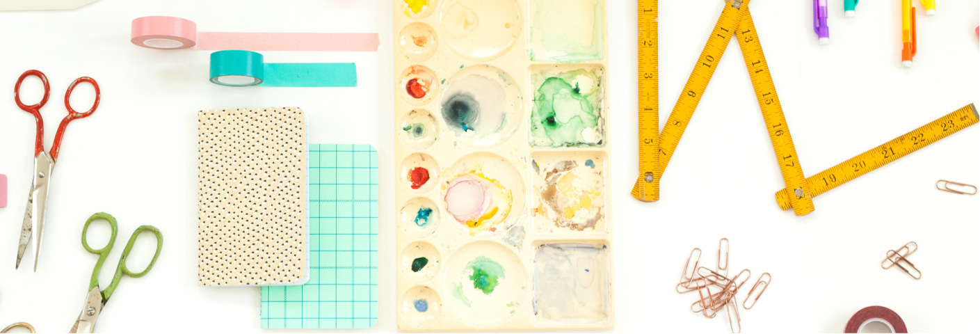 Collage of different studio tools