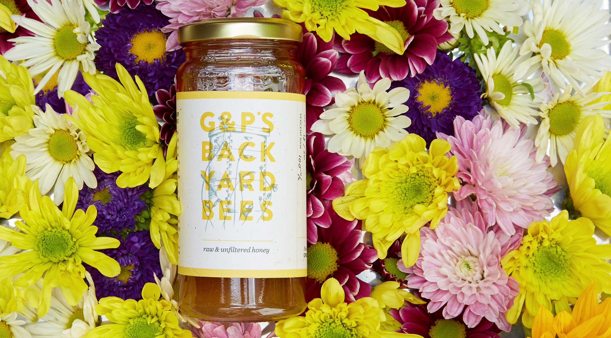 Packaging design showing honey jar